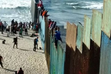 Caravana de migrantes llegó a Tijuana en la frontera de México con EEUU