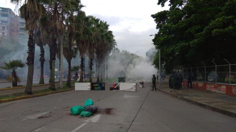 Manifestaciones frente a la Universidad del Valle dejaron tres heridos
