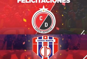 ¡Ya son de Primera! Cúcuta Deportivo y Unión Magdalena ascendieron a la A