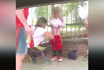 Detienen a mujer que cubrió con bengalas a su hijo para ingresar al Monumental