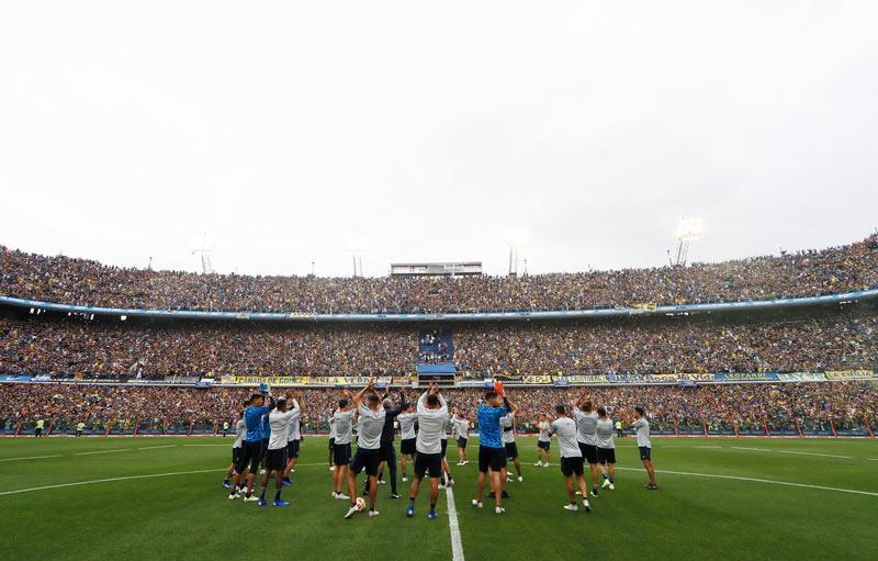 Video para erizar la piel: 50.000 hinchas llenaron la Bombonera antes de la final
