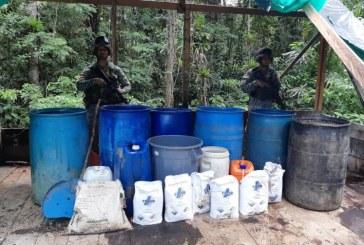 Caen en Cauca 3 laboratorios para procesamiento de pasta de coca