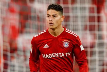 Por lesión en la rodilla, James se ausentará varias semanas del Bayern Múnich