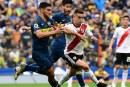 Partido emocionante entre Boca Juniors y River Plate, por la primera final de Libertadores