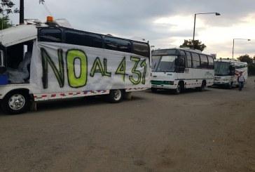 Cerca de 800 transportadores protestan en Cali por Decreto 431 del 2017