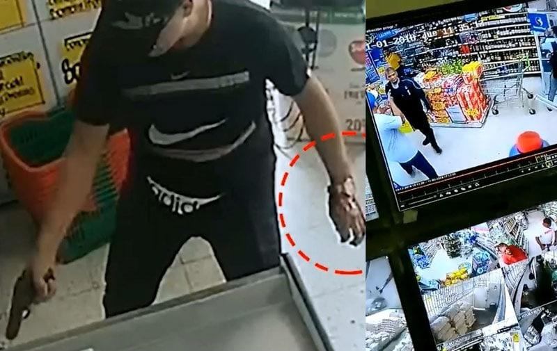 Video: así fue el seguimiento a presunto homicida en supermercado de Los  Alcázares
