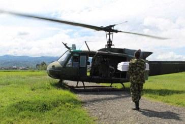 Ejército traslada a Timbiquí a bebé que falleció tras accidente doméstico