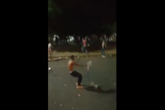 Dos personas resultaron heridas tras riña en la Avenida Pasoancho con 66