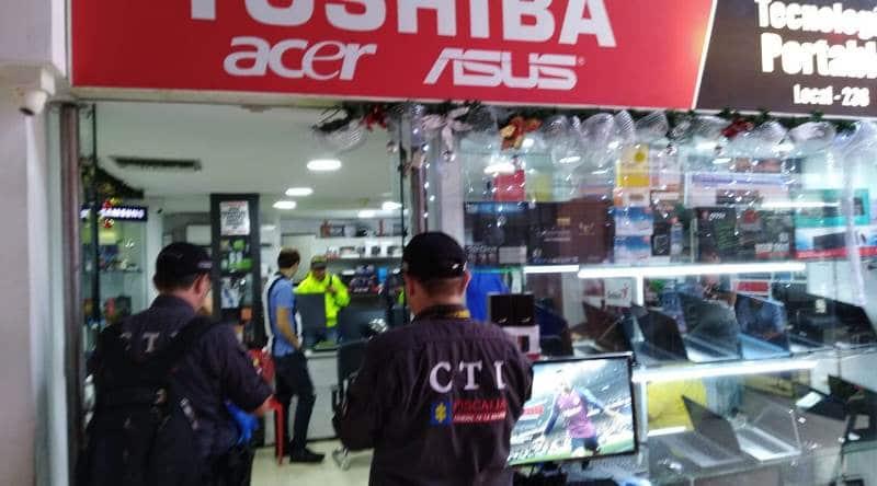 Encuentran en centro comercial equipos robados a una universidad de Cali