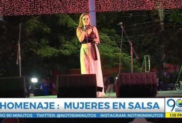 Lo que pasó: Dos mujeres salseras cantaron en el evento que conmemoró a la mujer en la Feria de Cali
