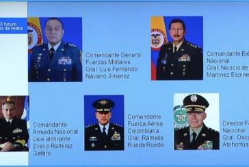 Presidente Iván Duque anunció cambios en la Cúpula Militar y de Policía