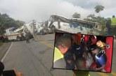 Bus que cubría ruta Pasto-Cali tras Carnaval de Negros y Blancos se accidentó en Cauca