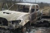 Hallan en México cuerpos calcinados y carros destruidos cerca a EEUU