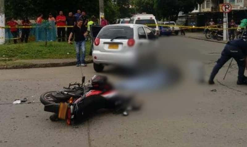 Un motociclista muerto dejó accidente de tránsito en el barrio Popular de Cali