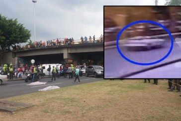 Video: revelan momento exacto de accidente donde murieron madre e hija en la Autopista
