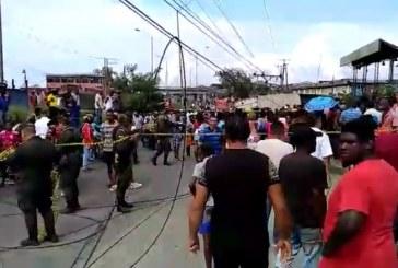 Caída de contenedor dejó dos personas muertas en puente El Piñal, Buenaventura
