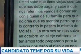 Candidato a la Alcaldía de Yumbo denuncia amenazas de muerte en su contra