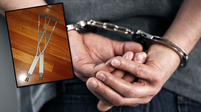 Cárcel a hombre que golpeó con muletas a su hermana embarazada en Cali
