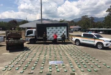 Capturado hombre que transportaba 274 kilos de cocaína al Valle del Cauca