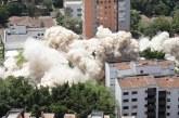 Edificio Mónaco de Pablo Escobar quedó hecho polvo en menos de tres segundos