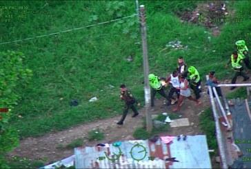 Con ayuda del Halcón, capturan a hombre que hirió a tiros a taxista en Juanchito
