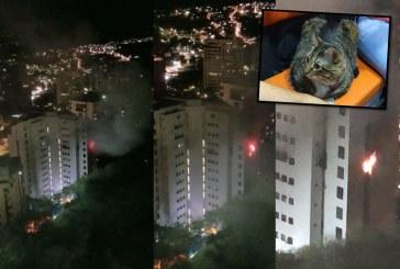 Alerta por incendio en apartamento en piso 12 de un edificio del oeste de Cali