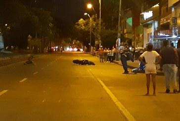 Un motociclista muerto y un ciclista herido dejó accidente de tránsito en Cali