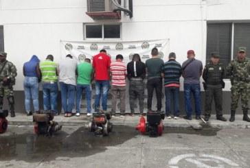 Diez personas fueron capturadas por realizar minería ilegal en el río Tuluá