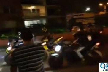 Piques ilegales de motociclistas en barrio Valle del Lili tienen en alerta a la comunidad