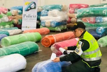 Policía incautó 280 millones de pesos en tela de contrabando en Buenaventura