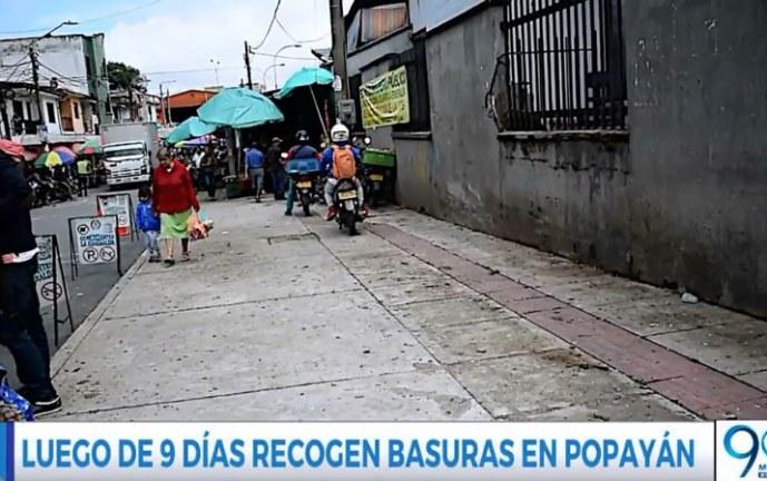Pese a comenzó recolección de basuras en Popayán, comunidad dice que van lento