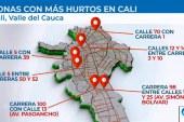 Estos son los 6 puntos que caleños identifican como los más 'calientes' en la ciudad