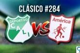 En números: así llegan Deportivo Cali y América al clásico caleño 284 en la historia