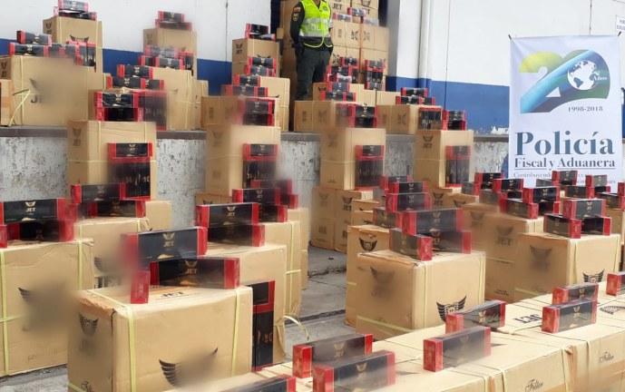 Autoridades incautan 86 mil cajetillas de cigarrillos de contrabando en el Valle