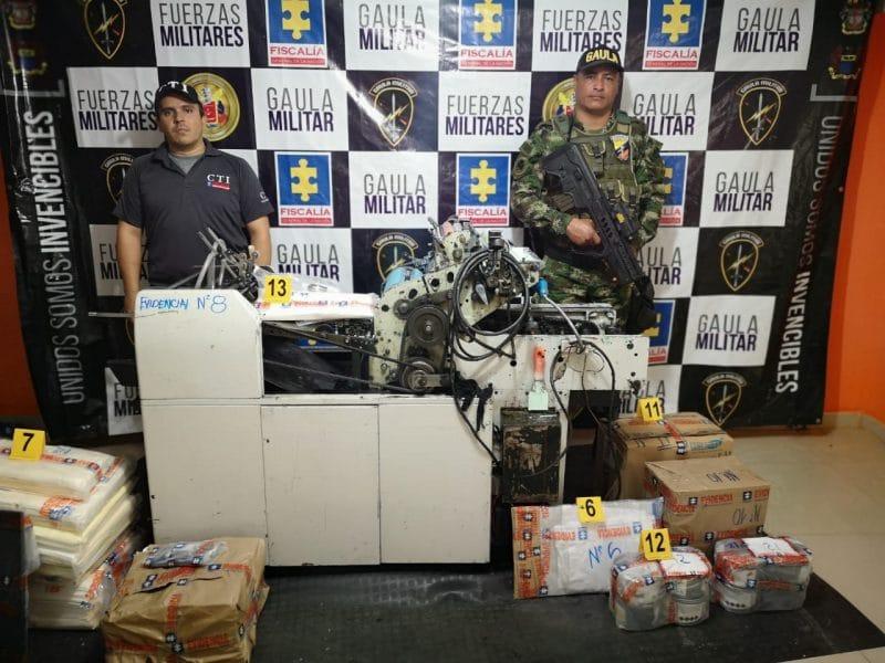 Cae banda dedicada a la falsificación y tráfico de moneda extranjera en Tuluá