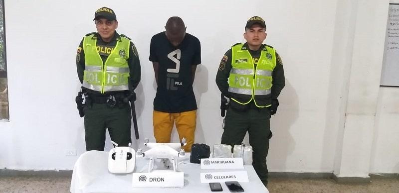 Utilizando un 'drone', hombre intentó ingresar drogas a la cárcel de Jamundí