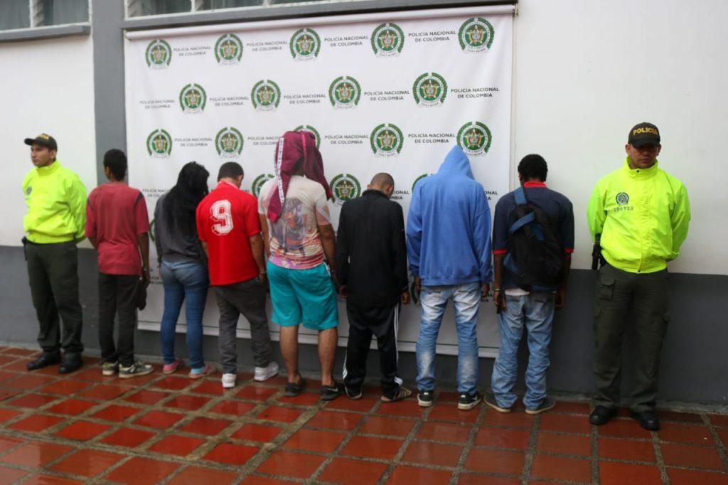 Capturan a siete miembros de banda 'Los de Compartir' por narcotráfico en Cali