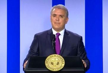 Duque reitera que con bloqueos no irá al Cauca y denuncia infiltración de grupos armados