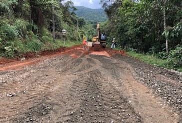 Iniciaron obras en la Vuelta a Occidente en el corregimiento Los Andes