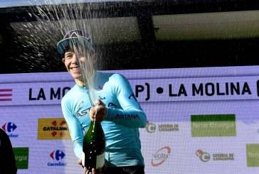 Miguel Ángel López ganó la cuarta etapa y se posicionó líder en Cataluña