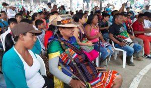 Comunidades indígenas se reúnen con el presidente Iván Duque en Caldono, Cauca