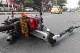 Patineta eléctrica se vio involucrada en accidente de tránsito en el sur de Cali