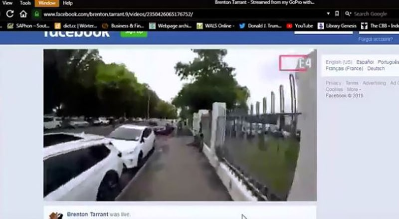 Terrorista de Nueva Zelanda transmitió matanza en mezquita por Facebook Live