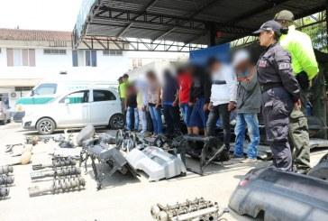 Cae red 'Los Pillos' dedicada a desguazar y robar automóviles en Cali y Valle