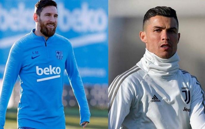 El beso de Cristiano y Messi en la portada de una revista