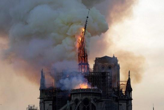 Bomberos de París informan de tres heridos en el incendio de Notre Dame