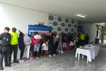 Cárcel a integrantes de banda 'Los Mameyes' dedicada al narcotráfico en Guacarí