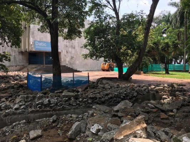 En inmediaciones del CAM, comenzó la construcción de nuevo parque 'Que viva la música'