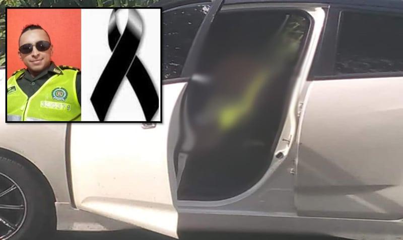 Hallan cuerpos sin vida de un policía y una mujer al interior de carro en vía a Rozo