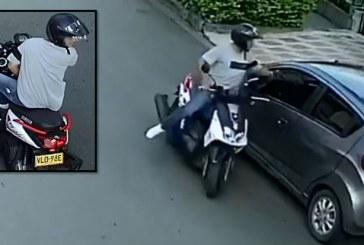 Hallan moto usada para cometer varios hurtos en Cali y que quedaron en video